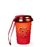 Starbucks 2015 Red Swarovski Crystal Holiday Cup Ceramic Ornament