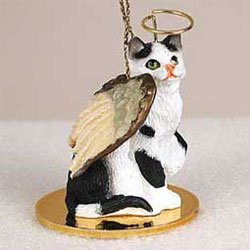 Christmas Ornament: Black and White Cat