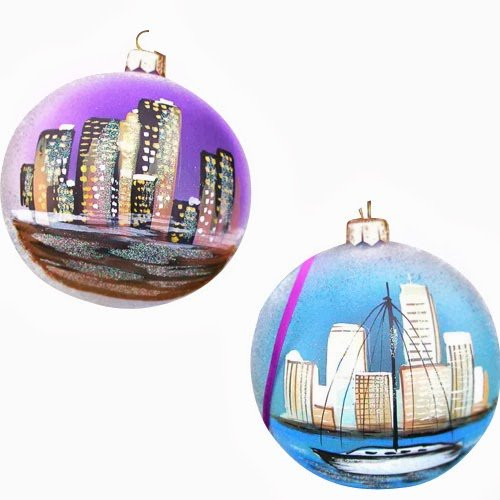 Ornaments To Remember Seattle: Waterfront Hand-Blown Glass Ornament