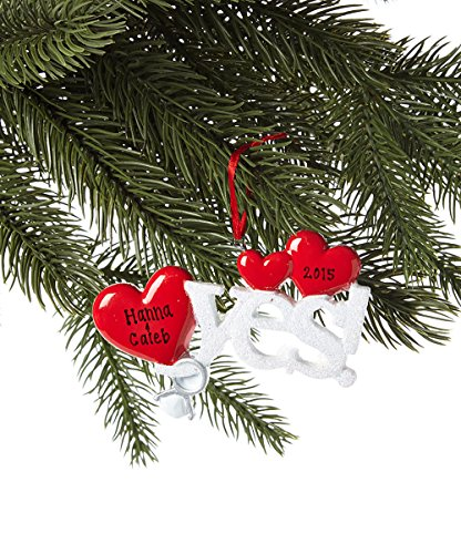 Yes! Engagement Personalized Christmas Tree Ornament