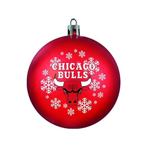 NBA Chicago Bulls Shatterproof Ball Ornament, 3.125″, Red