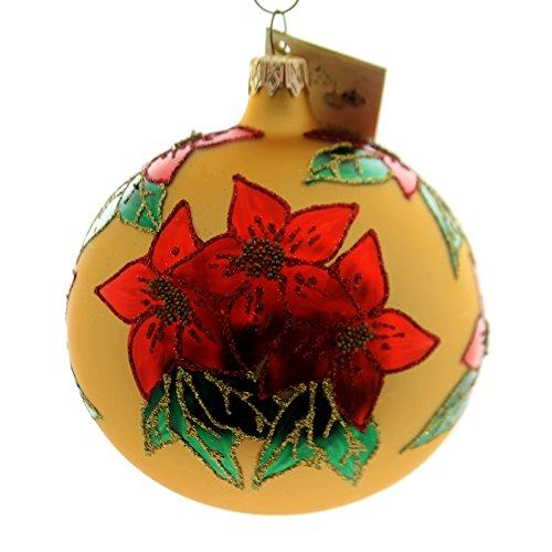 Christina's World POINSETTIA FANTASY Glass Ornament Flower Gif486