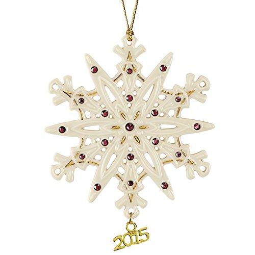 Lenox Christmas 2015 Annual Gemmed Snowflake Ornament