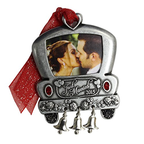 Gloria Duchin Christmas Traditions Just Married 2015 Wedding Car Photo Ornament