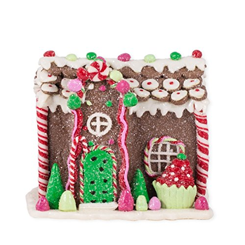 Gingerbread House with Peppermint Christmas Decoration by Raz Imports