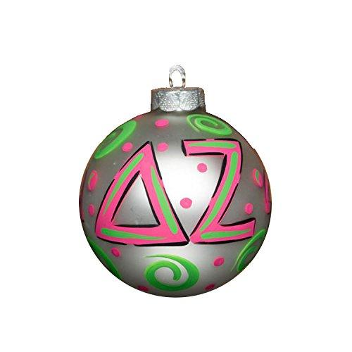 Glory Haus Delta Zeta Glass Ornament, 4-Inch