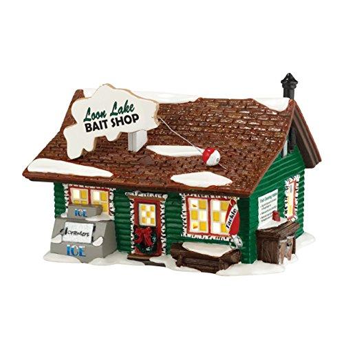 Department 56 Original Snow Village Loon Lake Bait Ornament Lit House, 5.9-Inch