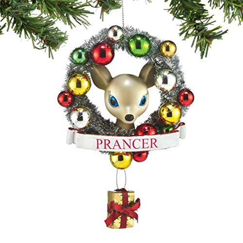 Department 56 Reindeer Tales Prancer Wreath Ornament