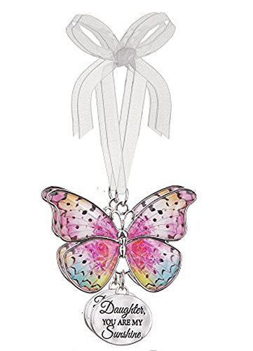 Daughter You are My Sunshine Spring Colors Butterfly Ornament – By Ganz