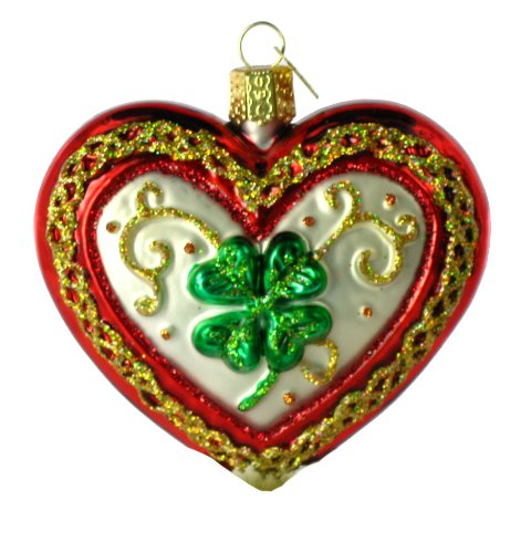 Old World Christmas Lucky in Love, 3″ Glass Ornament