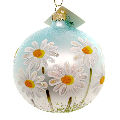Christina's World DAISIES UNDER BLUE SKY Glass Ball Ornament Spring Flo710