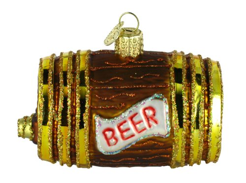 Old World Christmas Beer Keg Glass Ornament