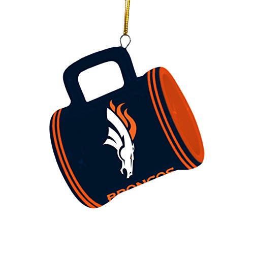 NFL Denver Broncos Mini Mug Ornament, 2.25″ Wide x 3″ Tall, Blue