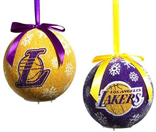 Los Angeles Lakers LED Ornament Set