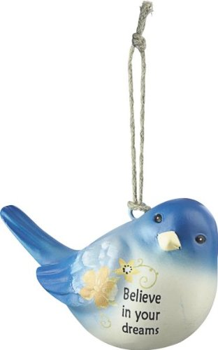 Believe in Your Dreams Blue Bird of Happiness Ornament By Ganz