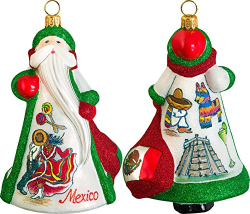Glitterazzi International Mexico Santa Ornament by Joy to the World