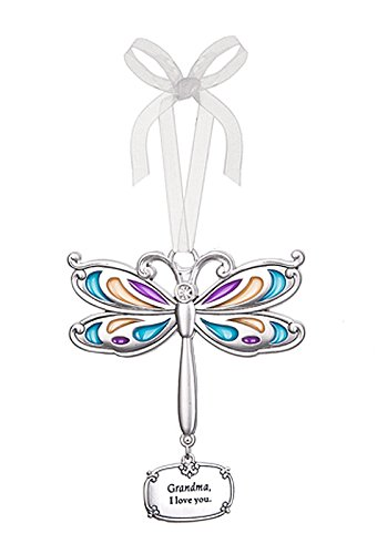 Grandma I Love You Dragonfly Charm Ornament – By Ganz