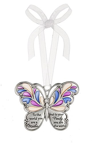 Ganz Butterfly Wishes Colored Ornament – To the world you are a Mother but to your Family you are the worldt