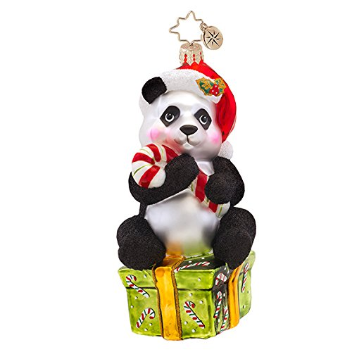 Christopher Radko Pandy-cane Christmas Ornament