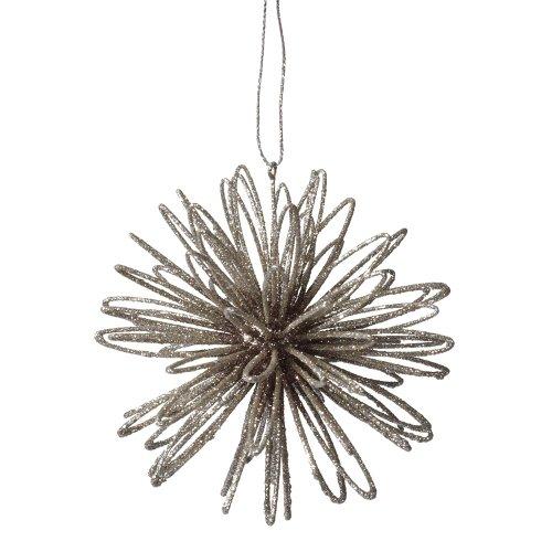 Midwest CBK Silver Glitter Swirl Plastic Ball Christmas Ornament
