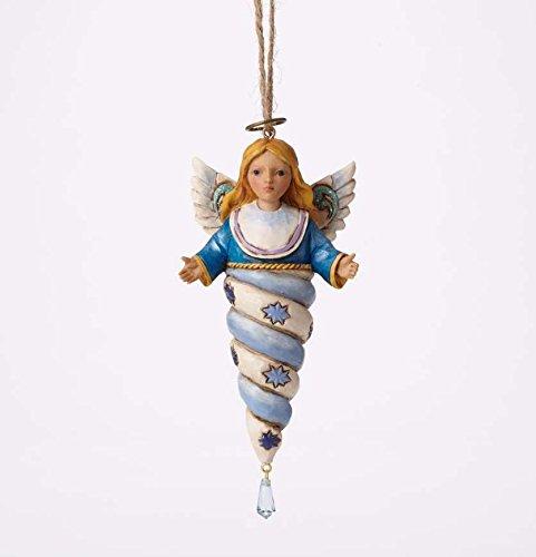 Jim Shore for Enesco Heartwood Creek Angel Icicle Ornament, 5.25″