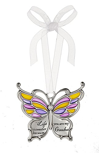 Ganz Butterfly Wishes Colored Ornament – Life is sweeter because you are my Grandma