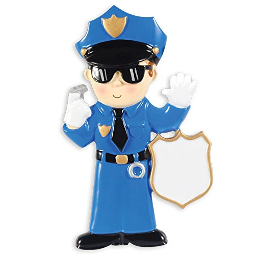 Police Man Personalized Christmas Tree Ornament
