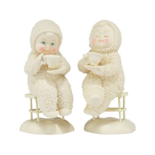Snowbabies Department 56 Classics Tea for Two, Me and You Figurine (Set of 2), 4.33″