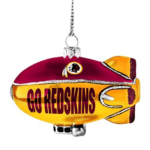 NFL Washington Redskins Glitter Blimp Ornament, Silver, 3″ x 2.25″