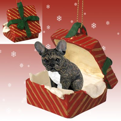 Conversation Concepts French Bulldog Gift Box Red Ornament