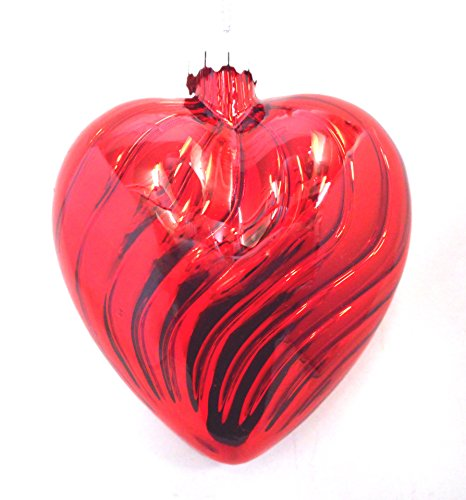 Red Glass Heart Ornament