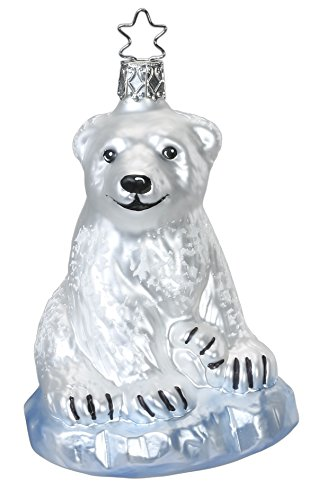 Mama Icebear, #1-137-15, from the 2015 Animals on Parade Collection by Inge-Glas Manufaktur; Gift Box Included