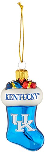 NCAA Kentucky Wildcats Molded Stocking Glass Ornament, Small, Blue