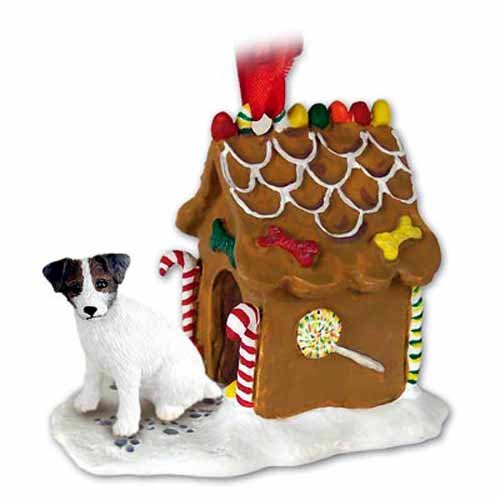 Jack Russell Parson Terrier Gingerbread House Ornament