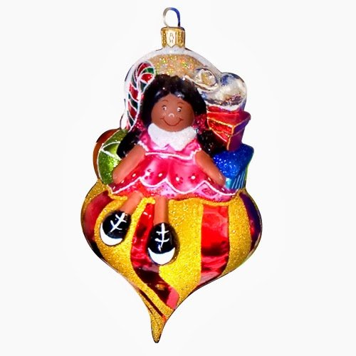 Ornaments to Remember: SANTA'S HELPER Christmas Ornament (Darker Skin)