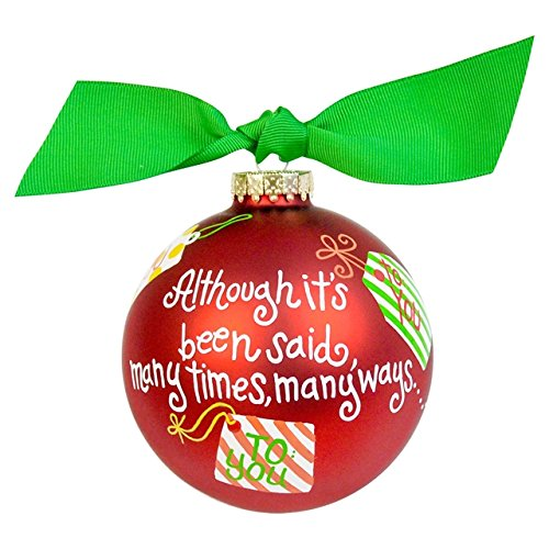 Coton Colors Merry Christmas to You Glass Ornament