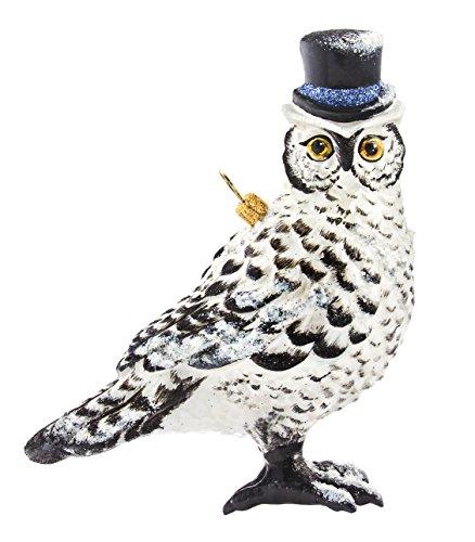 Glitterazzi Wintery Owl Ornament by Joy to the World