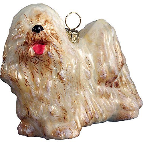 Komondor Polish Blown Glass Christmas Ornament Dog Decoration Made in Poland