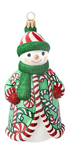 Glitterazzi Snowman Candy Cane Soup Ornament by Joy to the World
