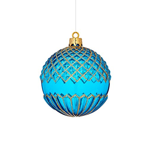 Sage & Co. XAO18820BL Shatterproof Ball Ornament (6 Pack)