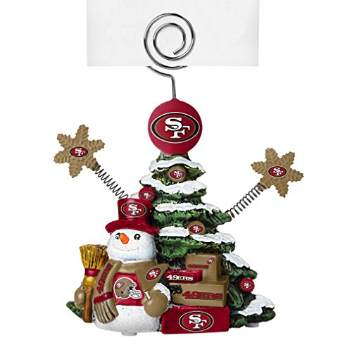 NFL San Francisco 49ers Tree Photo Holder, Green, 5″ Tall