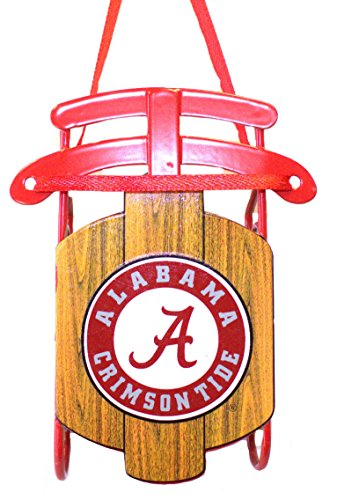 NCAA Licensed Alabama Crimson Tide Metal Sled Team Ornament