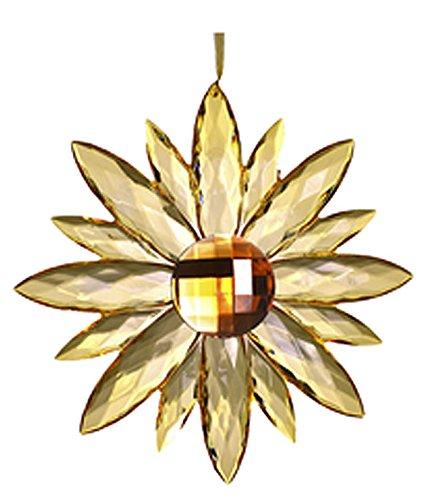 Yellow Colored Giant Jewel Flower Suncatcher – By Ganz
