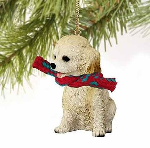 1 X Cockapoo Tiny Miniature One Christmas Ornament Blonde – DELIGHTFUL!