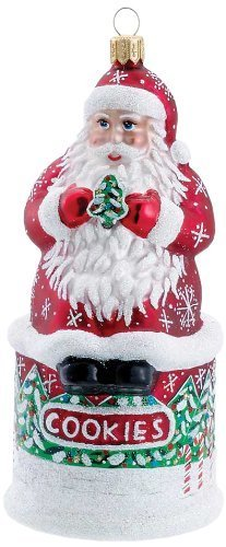 David Strand Kurt Adler Cookies for Santa Snowfall Ornament, 5.9-Inch by David Strand [並行輸入品]