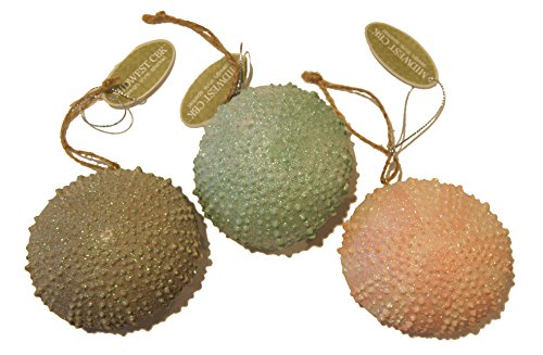 MIDWEST-CBK CHRISTMAS ORNAMENT SET OF 3 SEA URCHINS