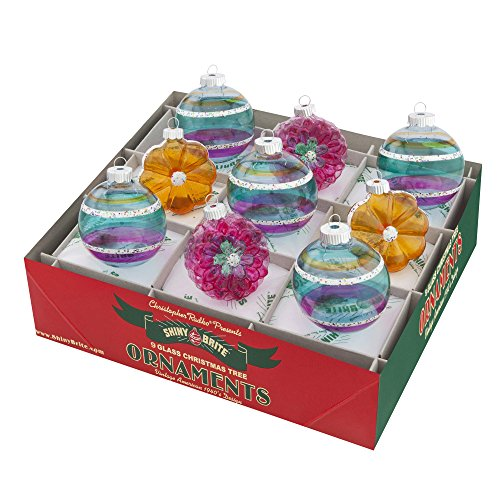 RADKO Shiny Brite Vintage Celebration Flowers & Rounds Ornaments 4026824 Easter