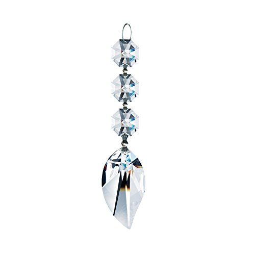 Genuine Swarovski Crystal Ornament Diamond Hanging Crystal Garland Wedding Strand with Swarovski Leaf Pendant Accent Includes Certificate