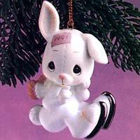 Precious Moments ornament #520438 Sno-Bunny Falls for You Like I Do