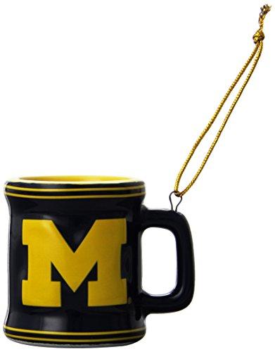 NCAA Michigan Wolverines Mini Mug Ornament, 2.25″, Blue